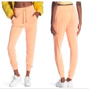 Free People Movement Solid Knit Jogger Neon Peach